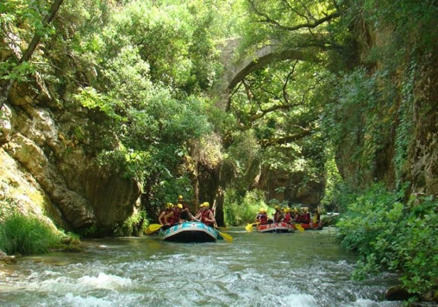 Rafting στον ποταμό Λούσιο